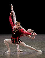 Sterling Hyltin and Andrew Veyette in New York City Ballet's production of RUBIES